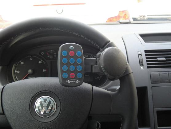 Remote control steering wheel panel