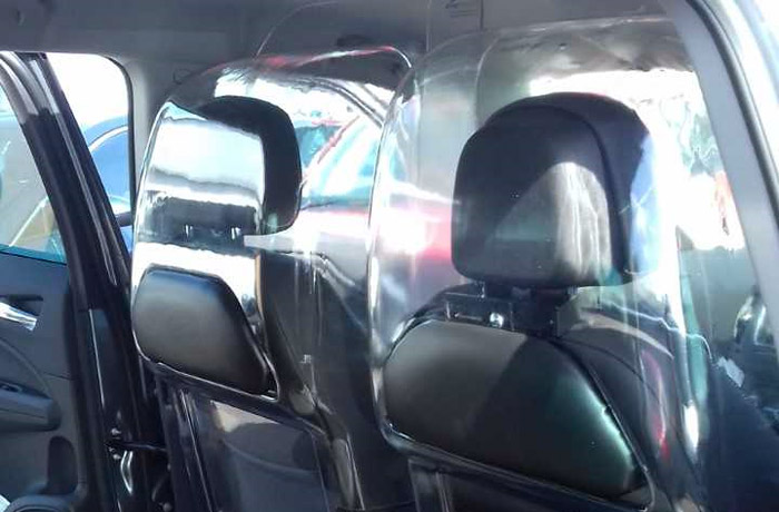 Front seat attached screens
